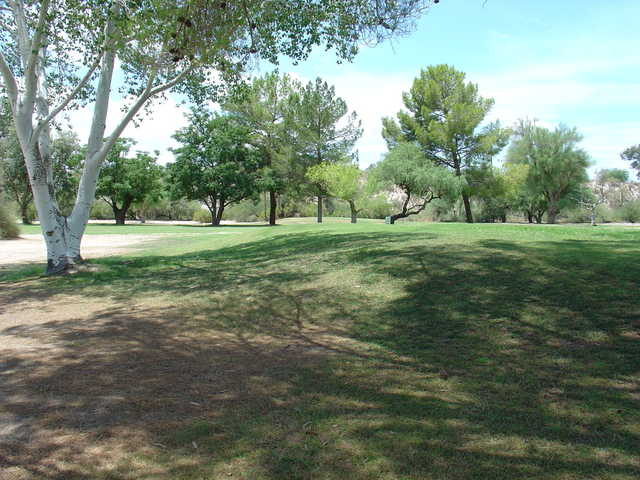 A view of a fairway at Quail Canyon Golf Course