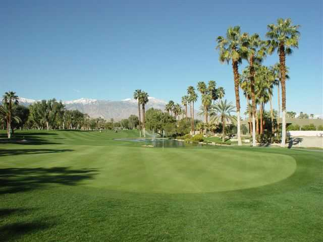 A view of hole #4 with water coming into play at Tamarisk Country Club