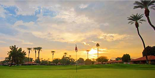 A view of a green at Sunrise Country Club