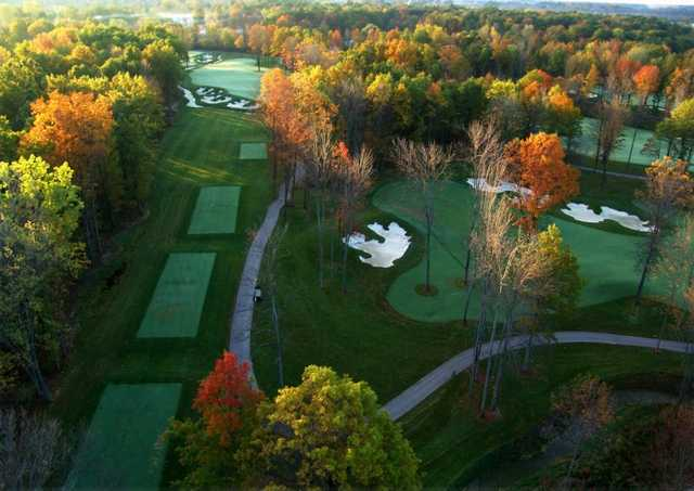 A fall view from Thundering Waters Golf Club