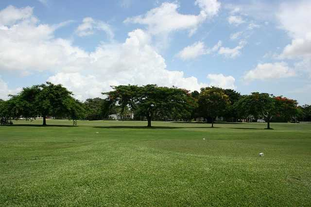 A view of a tee at Granada Golf Course (City of Coral Gables)