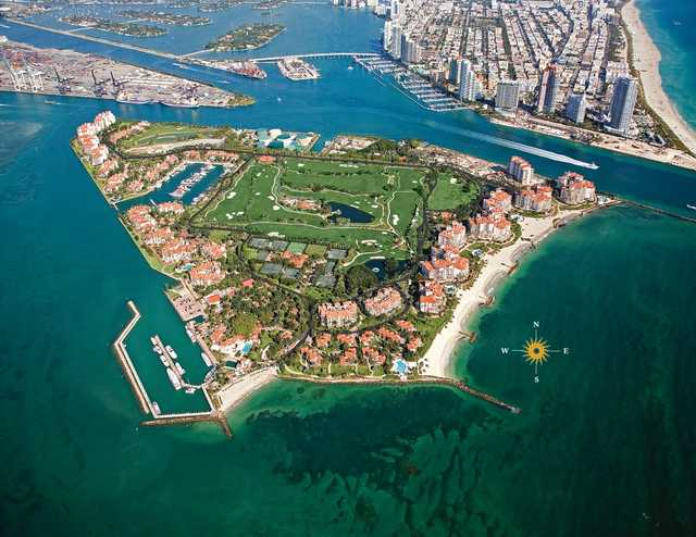 Aerial view of Fisher Island Club