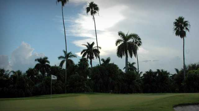 A view of a hole at La Gorce Country Club