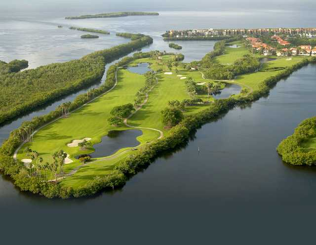 Aerial view from Deering Bay Yacht & Country Club