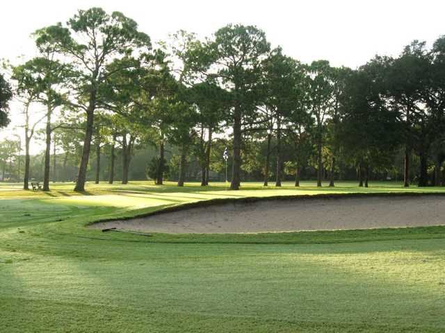 A view of the 8th green at West from Fernandina Beach Golf Course