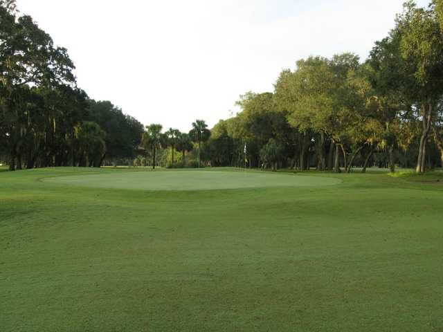 A view of the 8th green at North from Fernandina Beach Golf Course