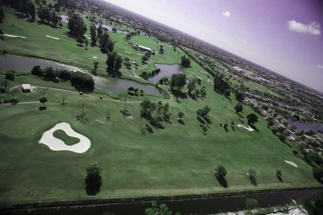 Aerial view of fairway #11 at Championship Course from Links At Boynton Beach