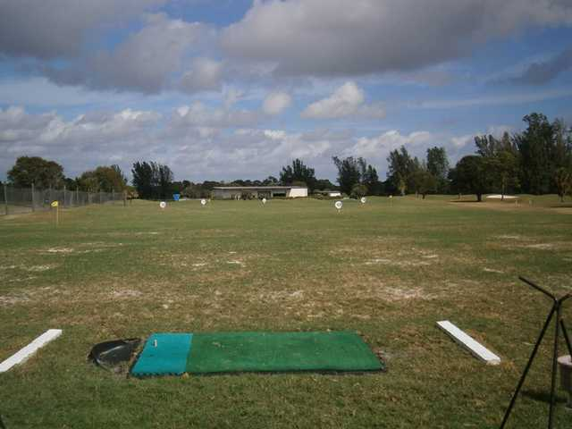 A view from the driving range tees from Links At Boynton Beach