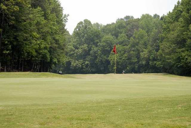 A view of a hole at Northwood Country Club
