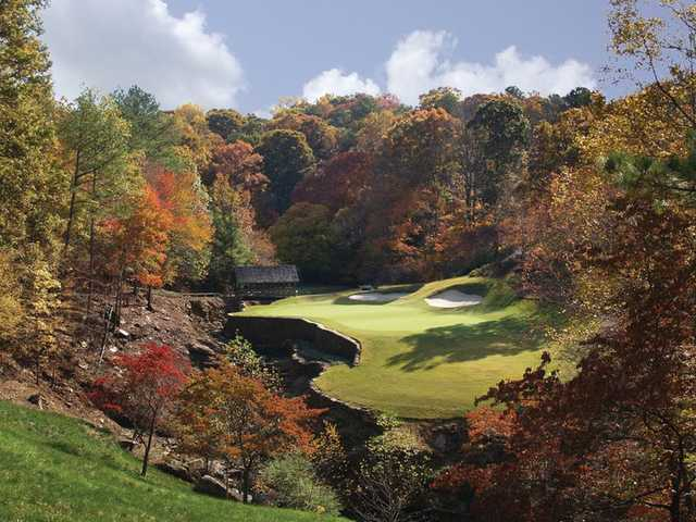 A fall view from Atlanta Country Club