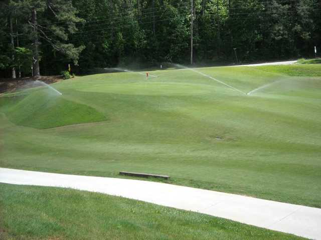 A view of the 1st green at College Park Golf Course