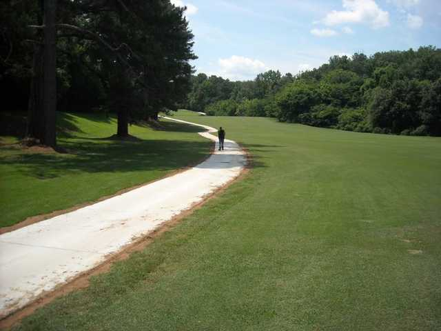 A view of fairway #4 at College Park Golf Course