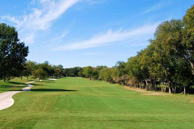 A view from a tee at Pecan Hollow Golf Course