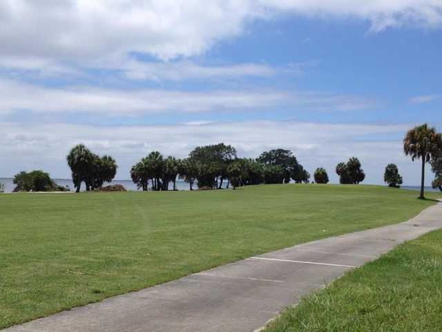 A view of a fairway at Bay Palms Golf Complex