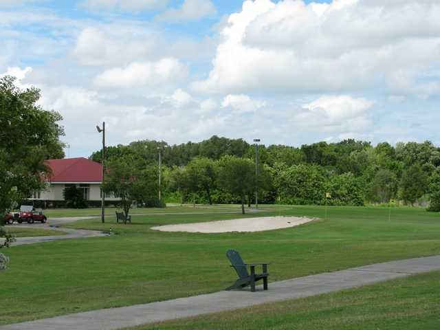 A view of the practice area at Buffalo Creek Golf Course