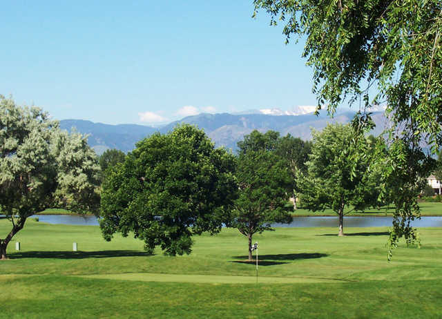 A view of a hole at Twin Peaks Golf Course