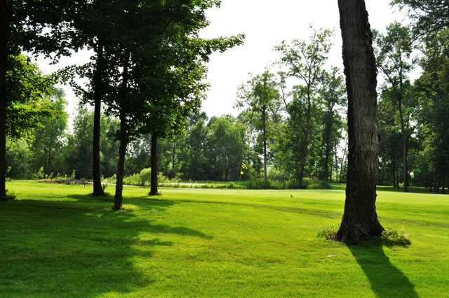 A view of the 14th green at ShadowBrooke Golf Course