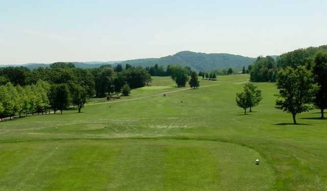 A view from a tee at Cabin Greens Golf Course