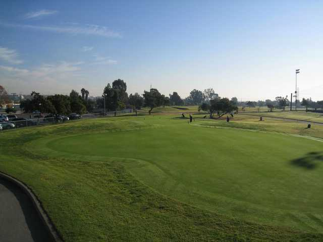 A view of the practice area at Victoria Golf Course