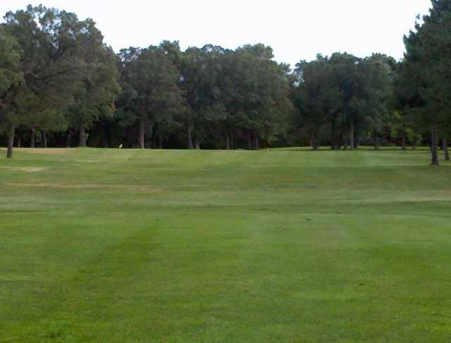 A view of fairway #1 at Little Falls Country Club