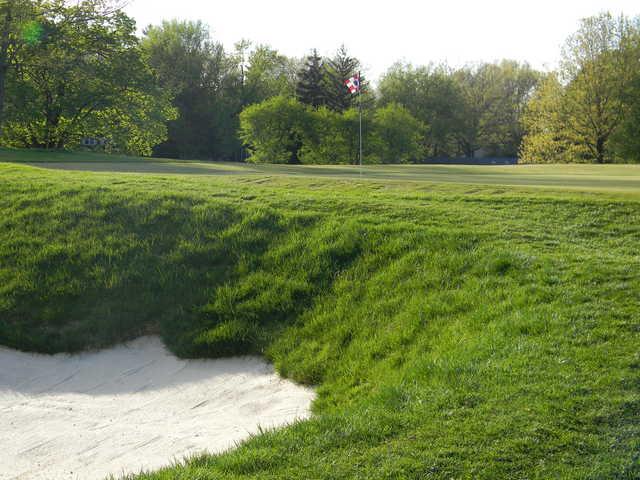 A view of green #1 from Fairways at Twin Lakes