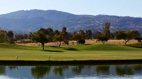 A view over the water from Diamond Valley Golf Club