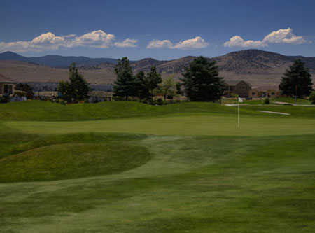 A view of the 10th green at Dayton Valley Golf Club