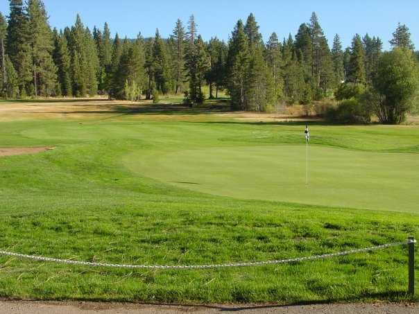 A view of the 9th hole at Tahoe City Golf Course