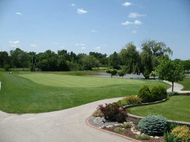 A view of a green at Fox Glen Golf Course