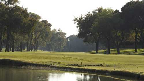 A view over a pond at Grand Oaks Golf Club