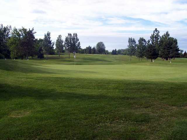 A view of a hole at Pleasant Hills Golf Club