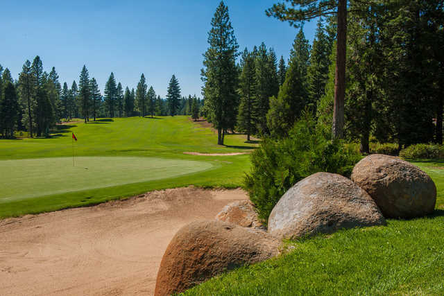 A view of a green at Bailey Creek Golf Course