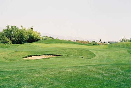 A view from fairway #14 at Mojave Resort Golf Club