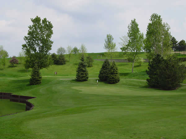 A view of green #2 at Nickol Knoll Golf Club