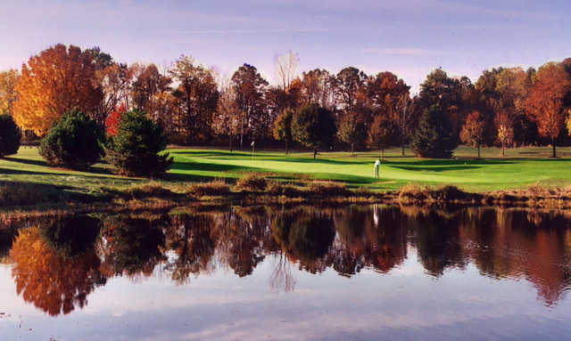 A view over the water from Fenton Farms Golf Club