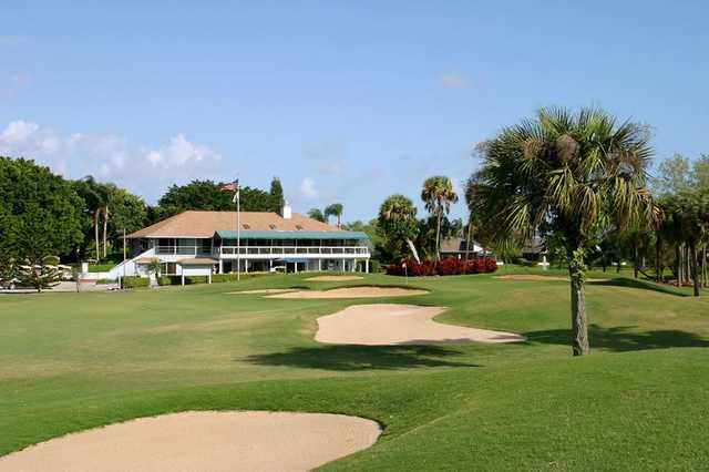 A view from the right side of a fairway at Hobe Sound Golf Club