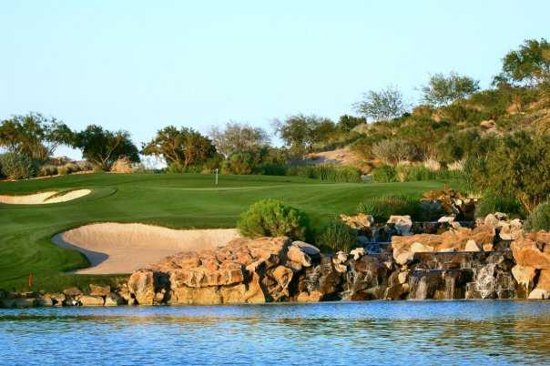 A view over the water from DragonRidge Golf Course