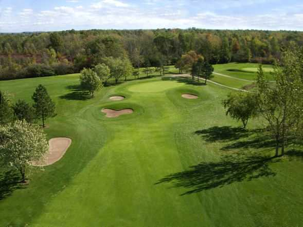 View from the par-5 1st hole at Pelham Hills GCC