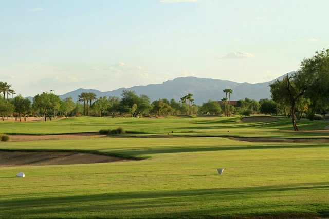 A view of from the 7th tee at Desert Springs Golf Course (Grand Golf)