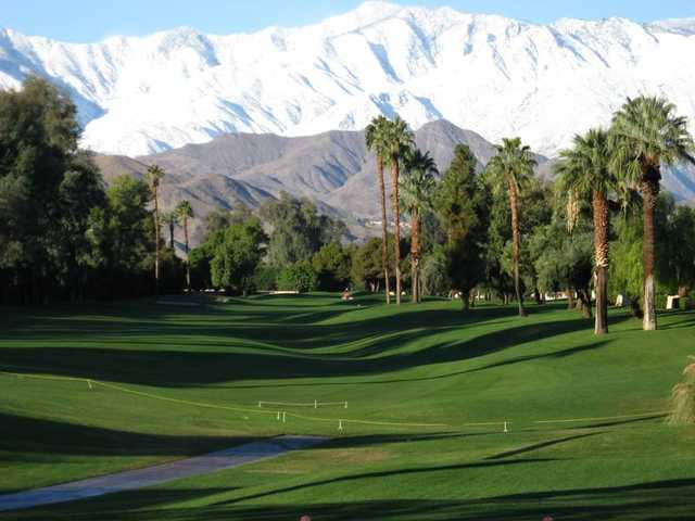 A view of the 8th fairway at Rancho Mirage Country Club