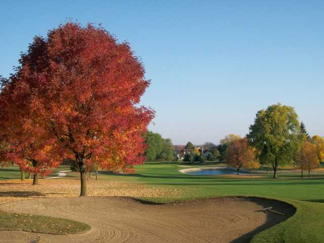 A fall view of a fairway at Pinecrest Golf & Country Club