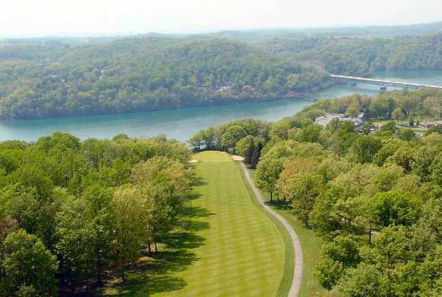 Aerial view of a fairway at Lakeview Golf Resort & Spa