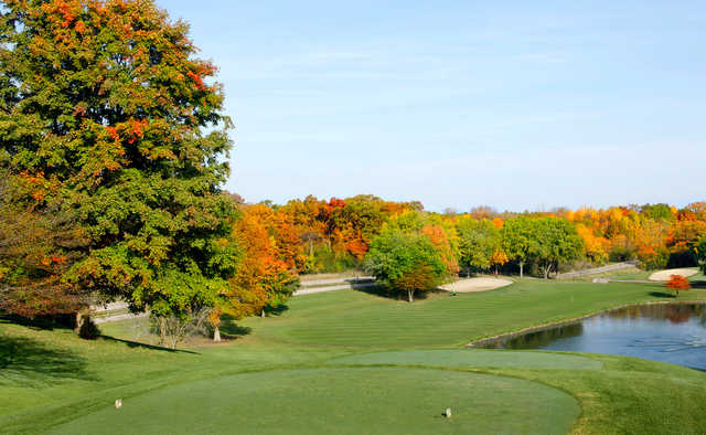 A fall view from a tee at Grand Geneva Resort