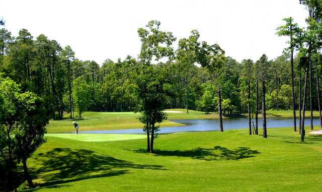 A view of the 7th green at Executive Course from Tupelo Bay Golf Complex