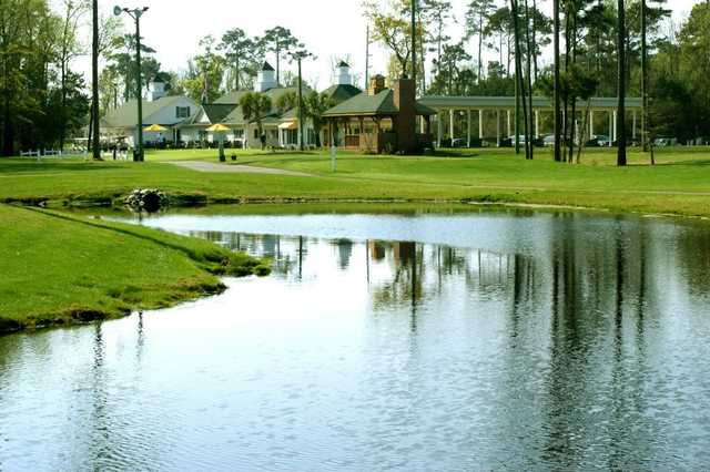 A view over the water from Tupelo Bay Golf Complex