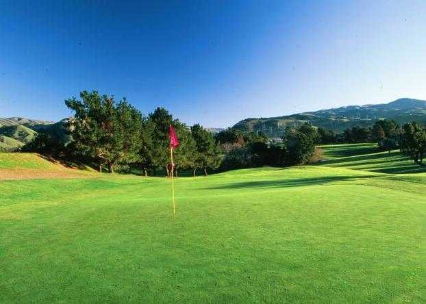 A view of the 18th green at Cypress from Sunol Valley Golf Course