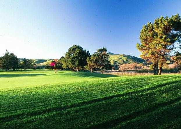 A view of hole #12 at Cypress from Sunol Valley Golf Course