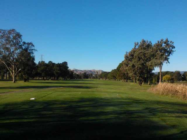 A view from a tee at Cypress Lakes Golf Course