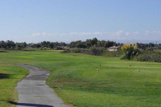 A view from a tee at Fremont Park Golf Course