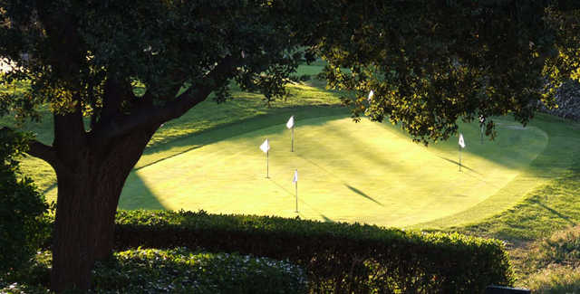 A view of the practice area at Menlo Country Club